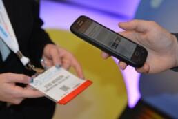scanning a badge